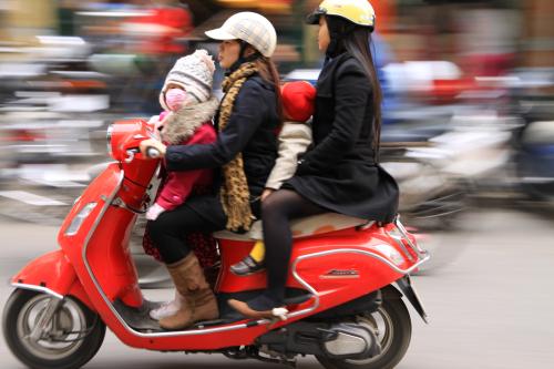 Rodzinka na motorze